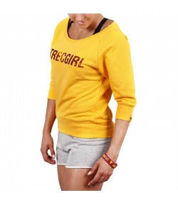 TREC WEAR SWEATSHIRT TRECGIRL 02 YELLOW BLUZA