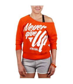 TREC WEAR SWEATSHIRT TRECGIRL 01 ORANGE BLUZA
