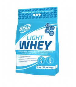 6PAK Nutrition LIGHT WHEY - 2000g BIAŁKO