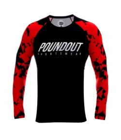 POUNDOUT Rashguard HATE long sleeve SUB-SKIN tech.