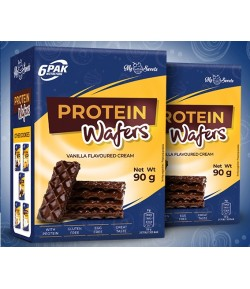 6PAK NUTRITION PROTEIN WAFERS CHOCO COATING - 90G WAFELKI WAFER