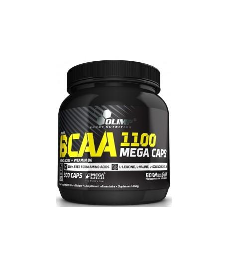 OLIMP BCAA 1100MG / MEGA CAPS 300KAP + PRÓBKA + PILL BOX