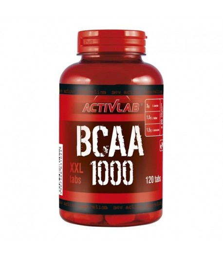 ACTIVLAB BCAA 1000 XXL 120 TABS AMINOKWASY MOCNE + GRATISY